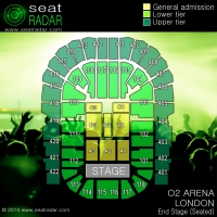 O2 Arena, London - End Stage (Seated)
