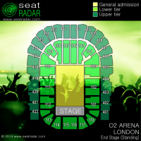 O2 Arena, London - End Stage (Standing)