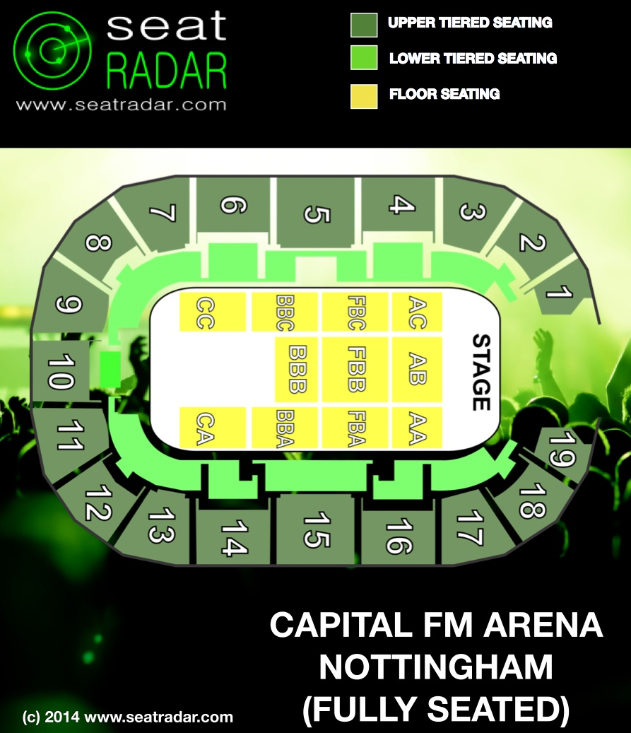 image gallery nottingham arena seating plan