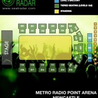 Metro Radio Arena (Newcastle) Seated:Standing