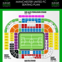 Old Trafford Seating Plan (Temporary)