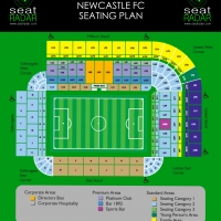 St James Park (Newcastle) Seating Plan (Temporary)