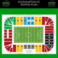 St Mary's Stadium (Southampton) Seating Plan (Temporary)