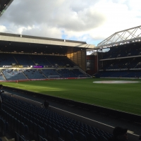 View from Ibrox Park Stadium (Glasgow) Block N Row 18