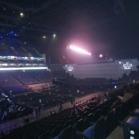 View from O2 Arena (London) Block 110 Row X Seat 298