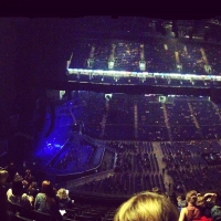 View from O2 Arena (London) Block 403 Row L Seat 498