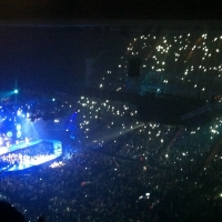 View from O2 Arena (London) Block 406 Row R Seat 595