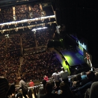 View from O2 Arena (London) Block 421 Row R Seat 957