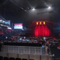 View from O2 Arena (London) Block 107 Row D