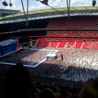 View from Wembley Stadium Block 523 Row 36 Seat 293