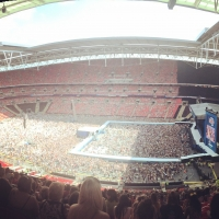 View from Wembley Stadium Block 549 Row 22 Seat 301
